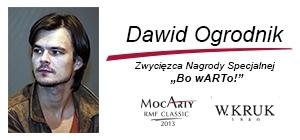 Dawid Ogrodnik - nagroda specjalna  Bo wARTo!