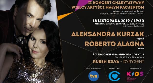 Aleksandra Kurzak i Roberto Alagna charytatywnie w Warszawie