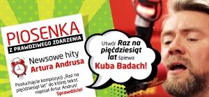 """Kuba Badach w piosence """"Raz na pięćdziesiąt lat"""" z tekstem Artura Andrusa!!!"""