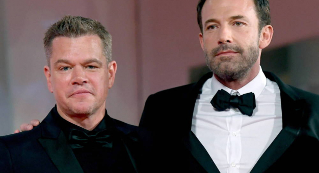 Matt Damon namiętnie pocałował Bena Afflecka