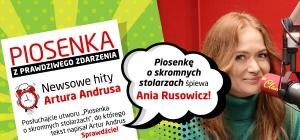 """Ania Rusowicz w """"Piosence o skromnych stolarzach"""" z tekstem Artura Andrusa!"""