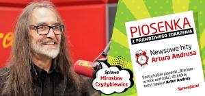 """Mirosław Czyżykiewicz w piosence """"Braciom w rock and rollu"""" z tekstem Artura Andrusa"""