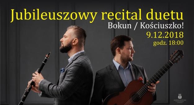 Koncert jubileuszowy Bokun/Kościuszko Duo