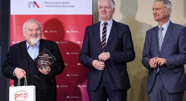 Prof. Ryszard Tadeusiewicz Popularyzatorem Nauki 2018!