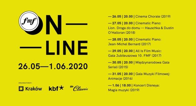 Festiwalowy tydzień pełen niezapomnianych wrażeń: 13. FMF online (26.05 -1.06.2020)