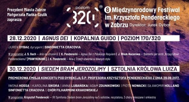 8. Międzynarodowy Festiwal im. Krzysztofa Pendereckiego – Poziom 320 w Zabrzu