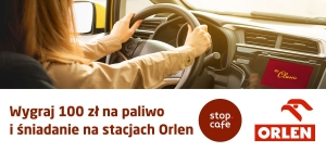 Wygraj 100 zł na paliwo i śniadanie na stacjach Orlen
