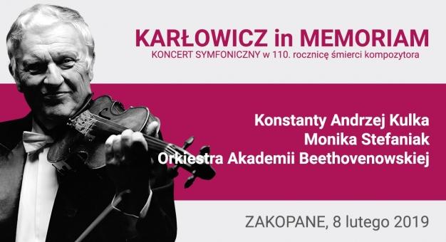 Konstanty Andrzej Kulka zagra w 110. rocznicę śmierci Mieczysława Karłowicza