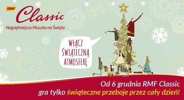 """RMF CLASSIC z mikołajkowym prezentem dla słuchaczy - """"Najpiękniejsza Muzyka na Święta"""" od 6 grudnia!"""