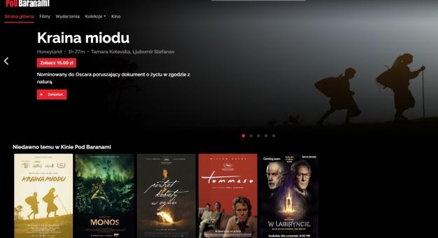Ruszyło wirtualne E-Kino Pod Baranami